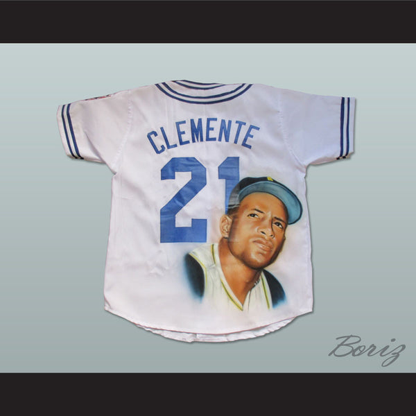 competitive price 9cd37 c08a8 Roberto Clemente 21 Cangrejeros de Santurce Airbrush Portrait Baseball  Jersey