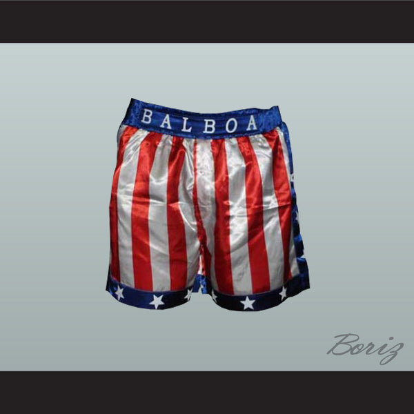 Sylvester Stallone Rocky Balboa American Flag Boxing Shorts All Sizes - borizcustom - 1