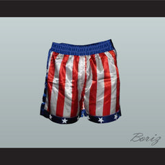 Sylvester Stallone Rocky Balboa American Flag Boxing Shorts All Sizes - borizcustom - 2