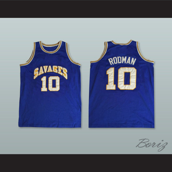 info for a1f0c e9eef Dennis Rodman 10 Southeast Oklahoma College Savages Basketball Jersey