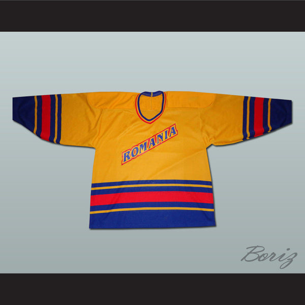 Romania National Team Hockey Jersey Any Player or Number - borizcustom