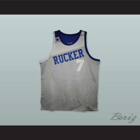 1969 Rucker Park NYC 7 Gray Basketball Jersey - borizcustom - 1