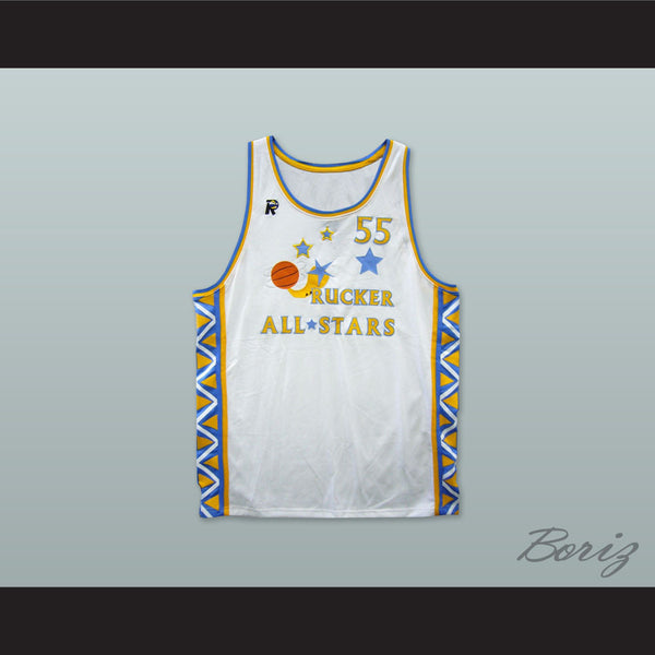 1996 Style Rucker All Stars 55 White Basketball Jersey - borizcustom - 1