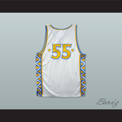 1996 Style Rucker All Stars 55 White Basketball Jersey - borizcustom - 2
