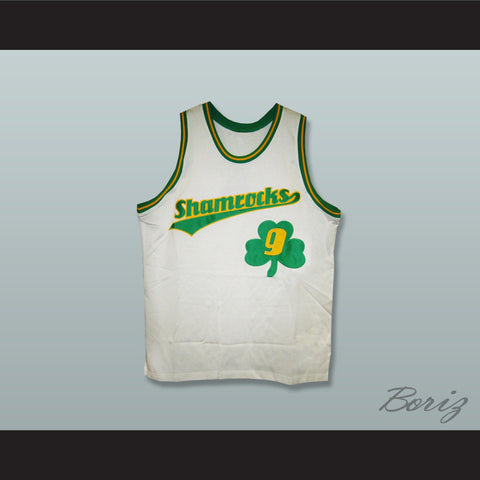 1972 Rucker Park Shamrocks 9 White Basketball Jersey - borizcustom - 1