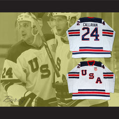Ryan Callahan 24 USA National Team Hockey Jersey New 1960 Tribute Style - borizcustom - 3