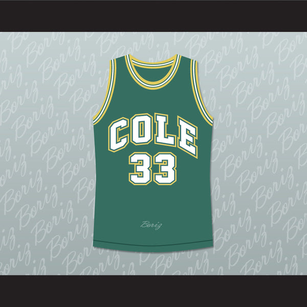 e4cfbc572b2 ... Product Image Shaquille ONeal 33 Robert G. Cole High School Basketball  Jersey Stitch Sewn .