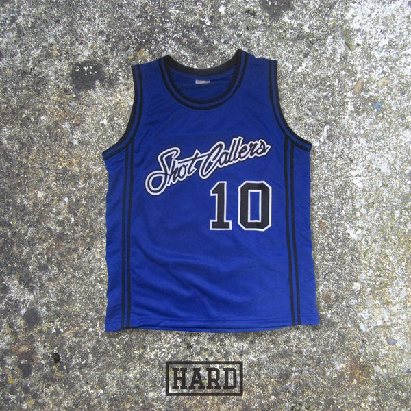 DUBBED 10 SHOT CALLERS BLUE BASKETBALL JERSEY by HARD - borizcustom - 1