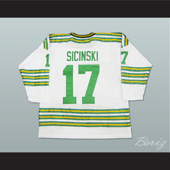 WHA Chicago Cougars Bob Sicinski Hockey Jersey All Sewn Any Size - borizcustom - 2