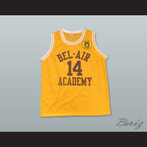 The Fresh Prince of Bel-Air Will Smith Bel-Air Academy Home Basketball Jersey Includes School Emblem Patch - borizcustom