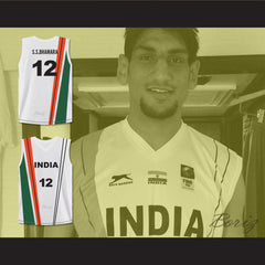 Satnam Singh Bhamara India Basketball Jersey Any Player or Number Stitch Sewn - borizcustom - 3