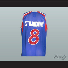 Peja Stojakovic 8 Yugoslavian Basketball Jersey Stitch Sewn New All Sizes - borizcustom - 2