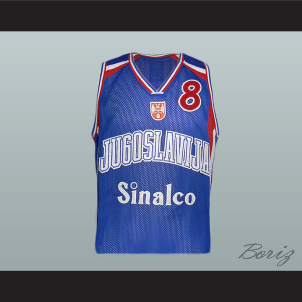 Peja Stojakovic 8 Yugoslavian Basketball Jersey Stitch Sewn New All Sizes - borizcustom