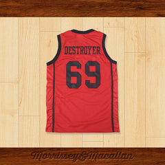 Super Wicked Megacorp 69 Destroyer Basketball Jersey by Morrissey&Macallan - borizcustom - 2