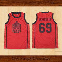 Super Wicked Megacorp 69 Destroyer Basketball Jersey by Morrissey&Macallan - borizcustom - 3