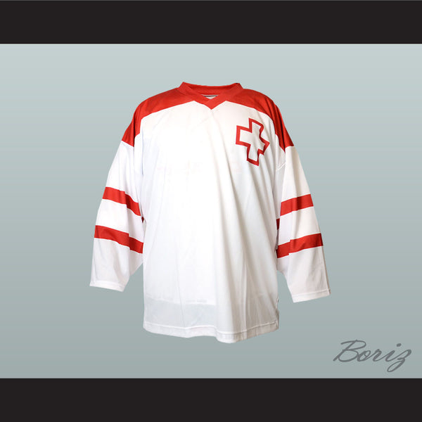 Switzerland National Team Hockey Jersey New - borizcustom - 1