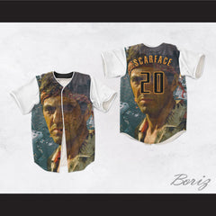 Tony Montana Scarface 20 City Baseball Jersey