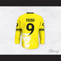 Al Pacino 9 Scarface TM Tony Montana Illustration Yellow Hockey Jersey