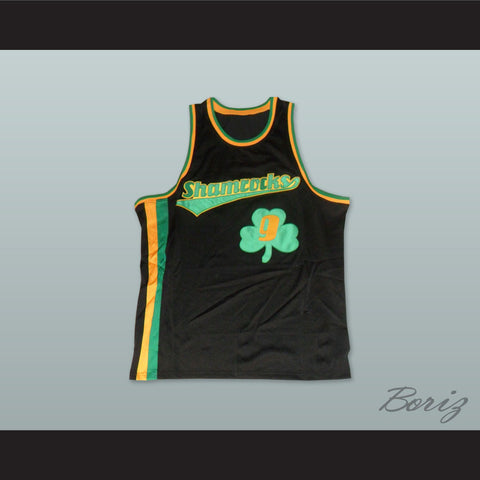 1972 Rucker Park Shamrocks 9 Black Basketball Jersey - borizcustom - 1