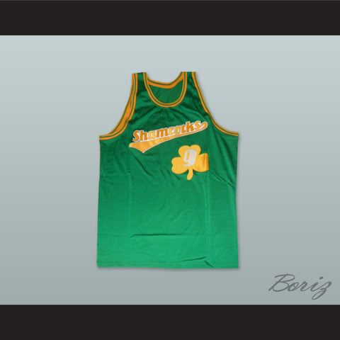 1972 Rucker Park Shamrocks 9 Green Basketball Jersey - borizcustom - 1