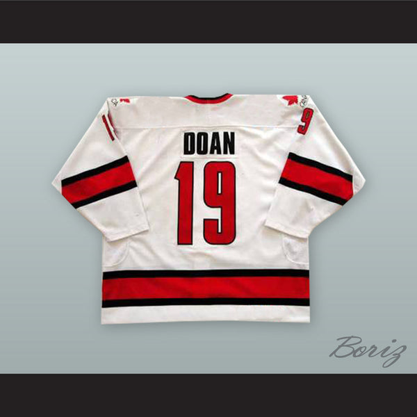 uk availability 87850 0c7d8 Shane Doan 19 Canada National Team White Hockey Jersey