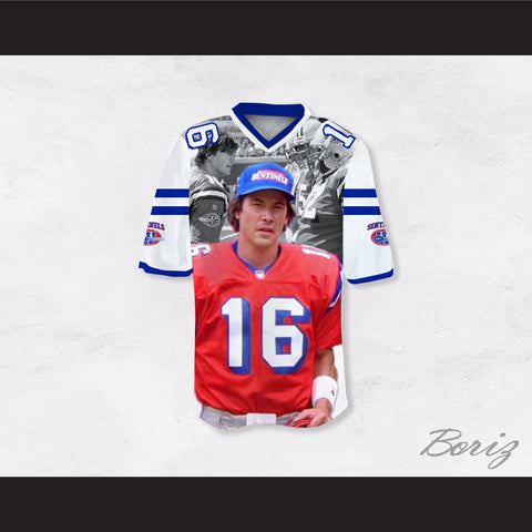 91af89737e8 Shane Falco 16 Sentinels Movie Scenes White Football Jersey The Replacements