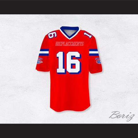 75daabc95b0 Shane Falco 16 Sentinels Dye Sublimation Graphics Football Jersey The  Replacements