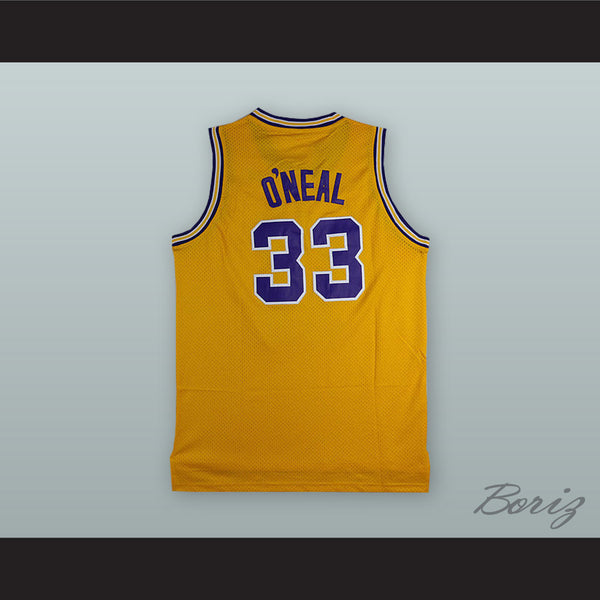 factory authentic a896a 2246b Shaquille O'Neal 33 LSU Yellow Basketball Jersey