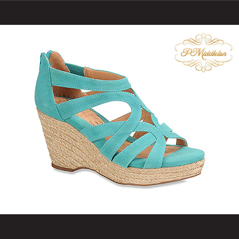 P Middleton Espadrille Jute Suede Sandal Distinctive Women's Shoes - borizcustom