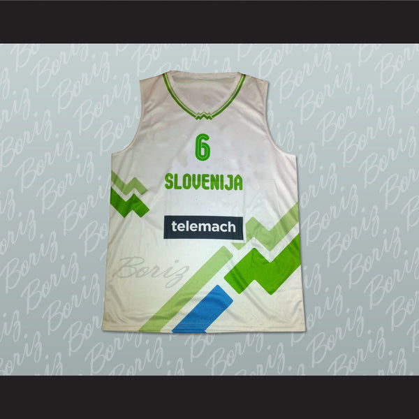 Slovenia Basketball Jersey Any Player or Number Stitch Sewn - borizcustom