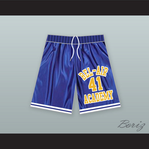 Will Smith 41 Bel-Air Academy Blue Basketball Shorts