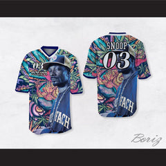Snoop Dogg 03 Smoke Weed Everyday Psychedelic Football Jersey