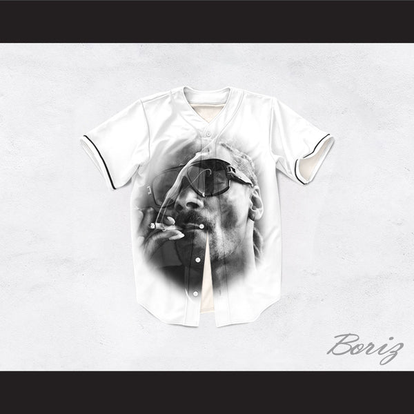 Snoop Dogg 19 Smoke White Baseball Jersey