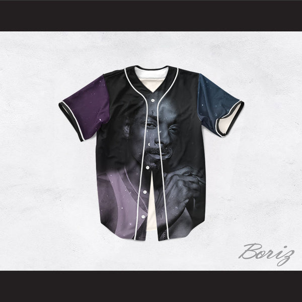 Snoop Dogg 99 Smoke Cloud Black Night Stars Baseball Jersey