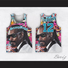 Snoop Dogg 12 Tuxedo Graffiti Basketball Jersey