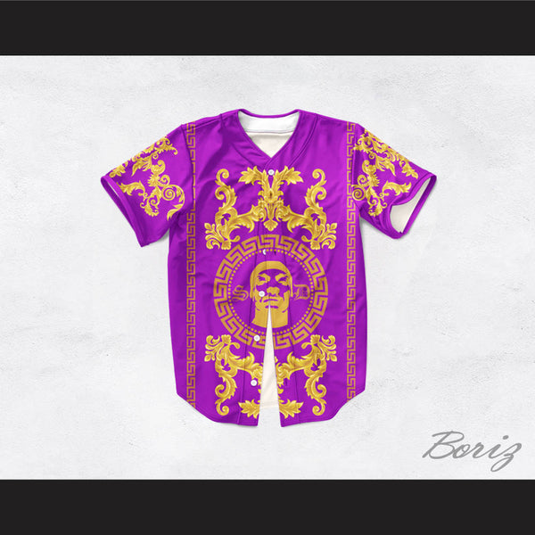 Snoop Dogg 05 Italian Style Purple Baseball Jersey