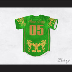 Snoop Dogg 05 Italian Style Green Baseball Jersey