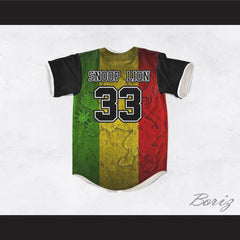 Snoop Lion 33 Rasta Style Lion Baseball Jersey