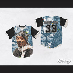 Snoop Lion 33 Blue Rasta Lion Cartoon Baseball Jersey