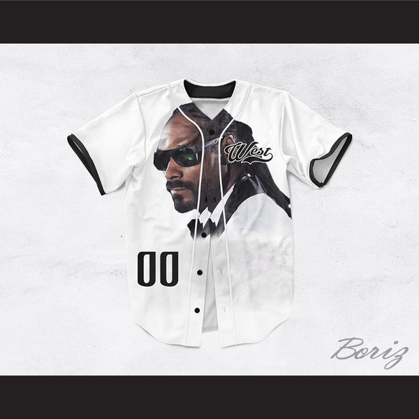 Snoop Dogg 00 Westside White Baseball Jersey