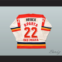 Petr Hrbek HC Sparta Prague Czech Elite League Hockey Jersey - borizcustom