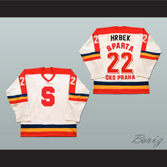 Petr Hrbek HC Sparta Prague Czech Elite League Hockey Jersey - borizcustom - 3
