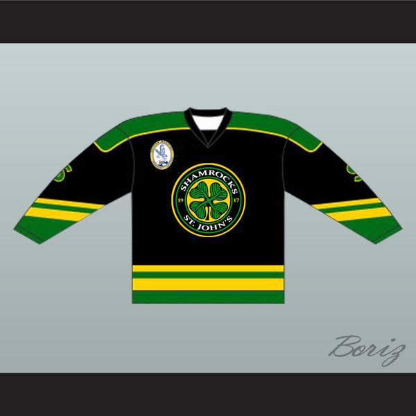 Ross The Boss Rhea St John's Shamrocks Hockey Jersey with EMHL Patch Goon - borizcustom