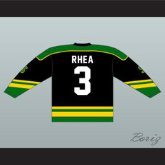 Ross The Boss Rhea St John's Shamrocks Hockey Jersey with EMHL Patch Goon - borizcustom - 2