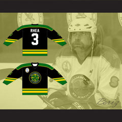 Ross The Boss Rhea St John's Shamrocks Hockey Jersey with EMHL Patch Goon - borizcustom - 3