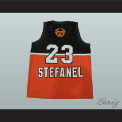 1985 Stefanel Trieste Michael Jordan Exhibition Game Basketball Jersey - borizcustom