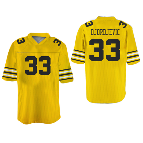 Tom Cruise Stefen Djordjevic 33 Ampipe Football Jersey Stitch Sewn New Colors new