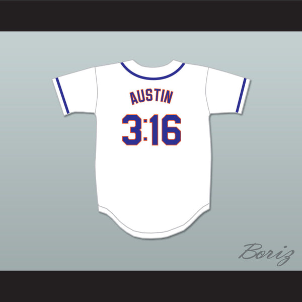 Austin 3:16 New York White Baseball Jersey