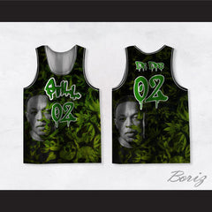 Dr Dre 02 Still Dre Cannabis Green Basketball Jersey