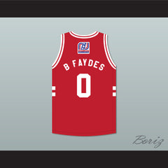 Brian 'B Faydes' McFayden 0 Stripes Basketball Jersey Rock N' Jock All Star Jam 2002